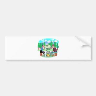Happy Campers Bumper Sticker