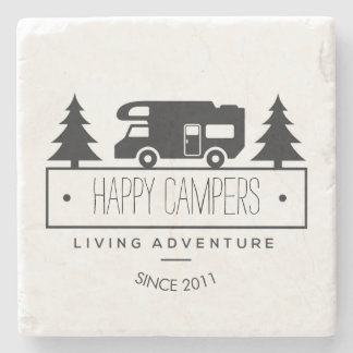 Happy Campers   Camping RVs RVers RVing Retired Stone Coaster