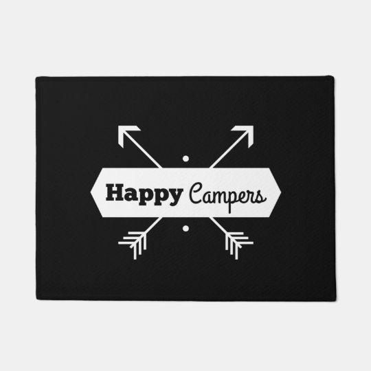 Happy Campers Door Mat Zazzle Com