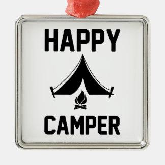 Happy Campers Metal Ornament