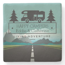 Happy Campers Retirement | RV Camping Travel Stone Coaster