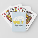 "Happy Campers Retro Vintage Camper Playing Cards<br><div class=""desc"">These playing cards are great for lazy afternoon or a rainy Saturday on your next camping trip.</div>"
