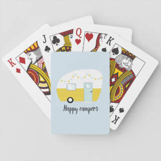 Happy Campers Retro Vintage Camper Playing Cards