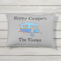 "Happy Campers The ""Your Name"" Outdoor Pillow"