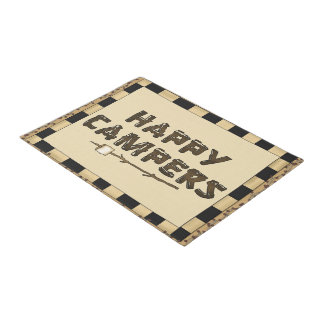 Happy Campers word art doormat