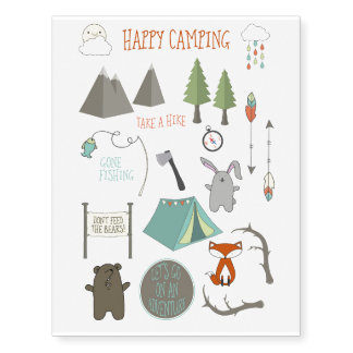 Happy Camping Tattoos