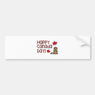 Happy Canada Day 3 Bumper Sticker
