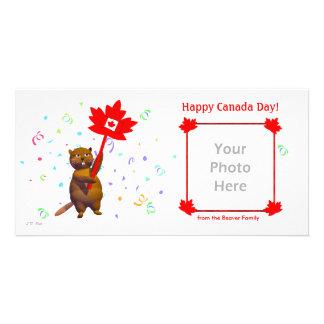 Happy Canada Day Beaver Card