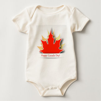 Happy Canada Day card with maple leaves Baby Bodysuit