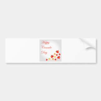 Happy Canada Day card with maple leaves Bumper Sticker