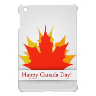 Happy Canada Day card with maple leaves Case For The iPad Mini
