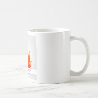 Happy Canada Day card with maple leaves Coffee Mug