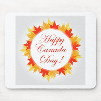 Happy Canada Day card with maple leaves Mouse Pad