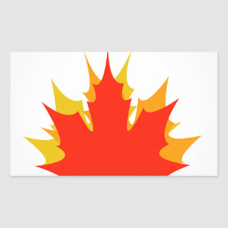 Happy Canada Day card with maple leaves Rectangular Sticker