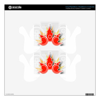 Happy Canada Day card with maple leaves Skins For PS3 Controllers