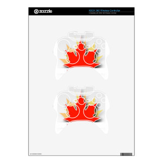 Happy Canada Day card with maple leaves Xbox 360 Controller Decal
