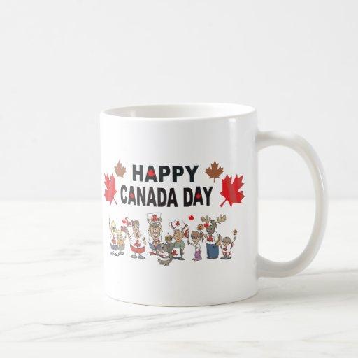Happy Canada Day Classic White Coffee Mug