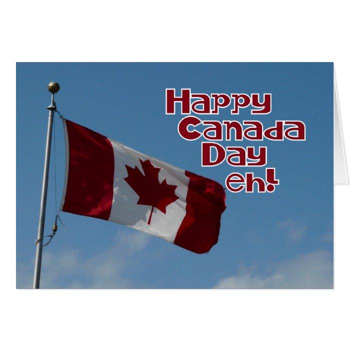 Happy Canada Day eh Maple Leaf Flag Greeting Card