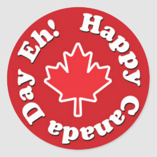 Happy Canada Day Eh! Round Stickers