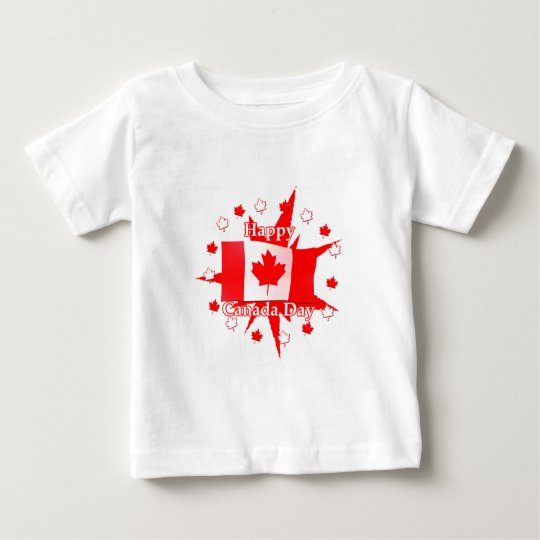 Happy Canada Day Flag Design Baby T-Shirt