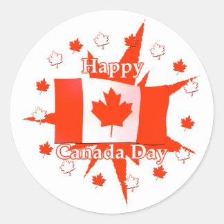 Happy Canada Day Flag Design Sticker