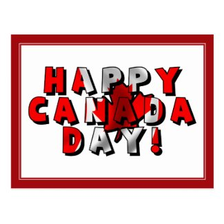 Happy Canada Day Flag Text