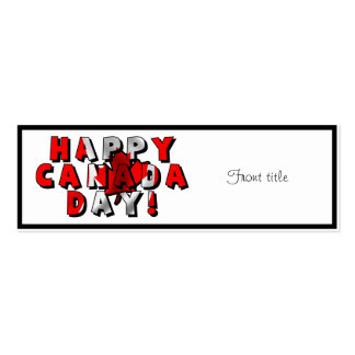 Happy Canada Day Flag Text Business Card Templates