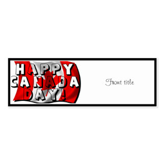 Happy Canada Day Flag Text with Canadian Flag Business Card