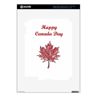Happy Canada Day iPad 3 Decal