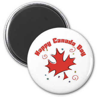 Happy Canada Day 2 Inch Round Magnet