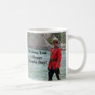 Happy Canada Day Mountie Photo Coffee Mug