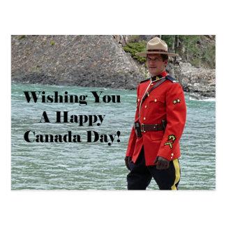 Happy Canada Day Mountie Photo Postcard