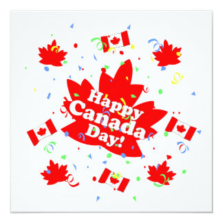 Happy Canada Day Party Card