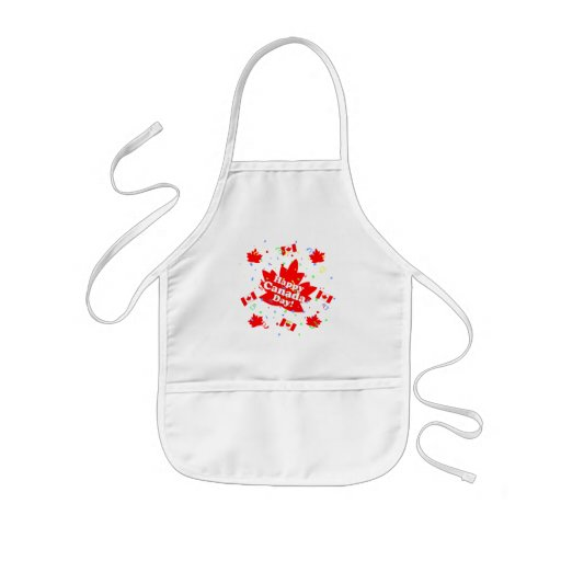 Happy Canada Day Party Kids' Apron