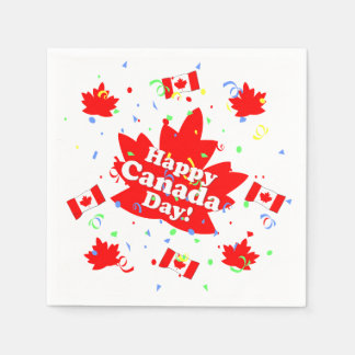 Happy Canada Day Party Paper Napkin