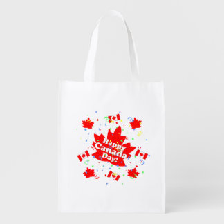 Happy Canada Day Party Reusable Grocery Bag