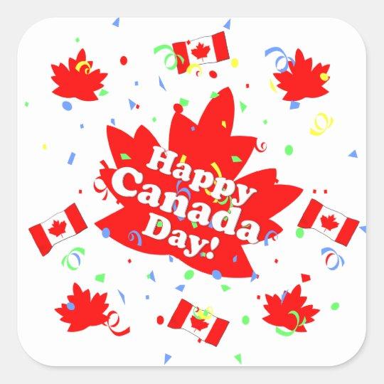 Happy Canada Day Party Square Sticker