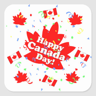 Happy Canada Day Party Sticker