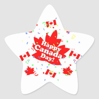 Happy Canada Day Party Stickers
