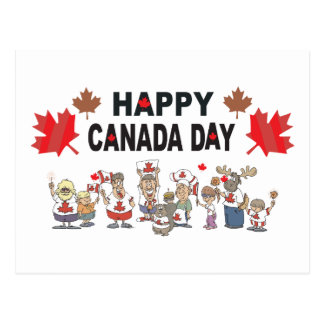 Happy Canada Day Postcard