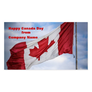 Happy Canada Day Red and White Canadian Flag Business Cards