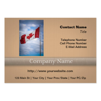 Happy Canada Day Red and White Canadian Flag Large Business Card