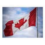 Happy Canada Day Red and White Canadian Flag Post Cards