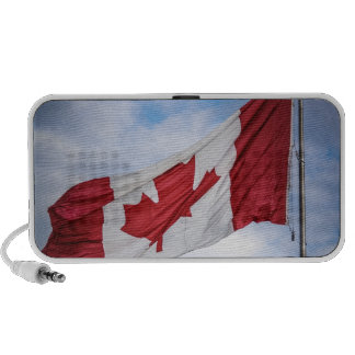Happy Canada Day Red and White Canadian Flag Portable Speakers