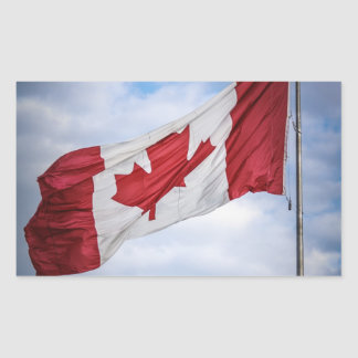 Happy Canada Day Red and White Canadian Flag Stickers