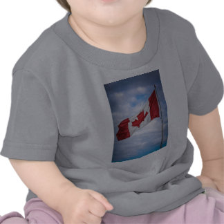 Happy Canada Day Red and White Canadian Flag T-shirt