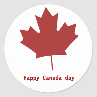 Happy Canada day Round Stickers