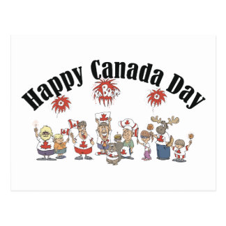 Happy  Canada Day T Shirt Postcard