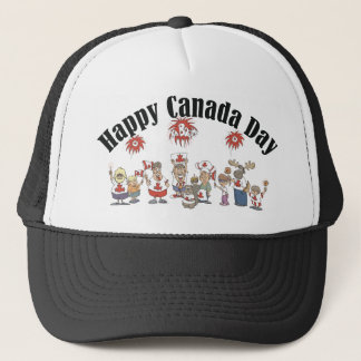 Happy  Canada Day T Shirt Trucker Hat
