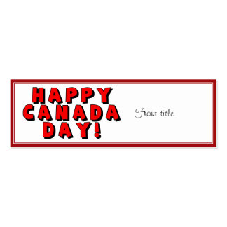 Happy Canada Day Text Image Business Cards